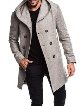ZOGAA Brand Warm Coat Men Clothes Slim Fit Long with Hood Jacket  Overcoat Mens Winter Coats New Arrival 2019 Hot Sale 3xl