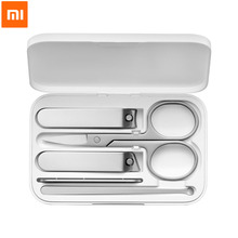 Original XIAOMI MIJIA Nail Clippers Set 5Pcs Stainless Manicure Pedicure Nail Clipper Cutter Nail File Ear Pick with Storage Box