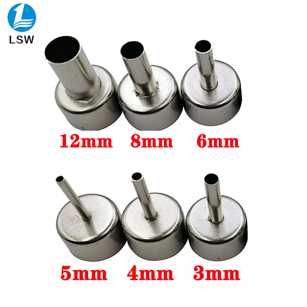 6 Pcs/lot 22mm Universal Nozzle Soldering Station Hot Air Stations Gun Nozzles For 858D+  8586 Welding Nozzles