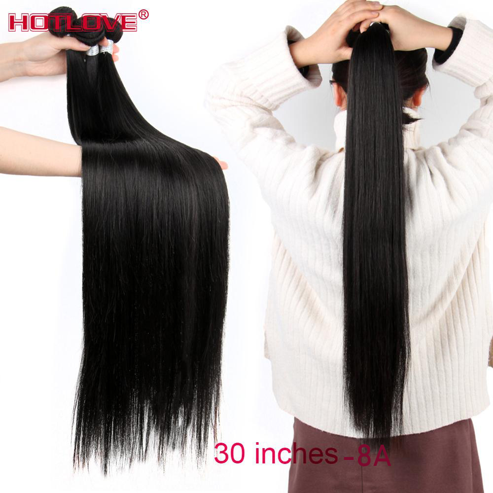 "Brazilian Straight Hair Weave Bundles 8-40"" Mixed Long Hair 100% Human Hair 1/3/4 Bundles Natural Color Remy Hair Extensions"