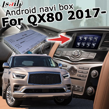 Android / carplay interface box for Infiniti QX80 Patrol Y62 2018 video interface box with GPS navigation youtube yandex Lsailt image