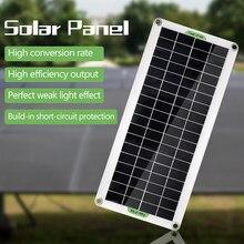 Panel Solar policristalino de 30W, Panel Solar Flexible para acampada, coche, viaje, exteriores, accesorio de energía de emergencia