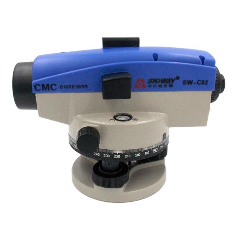 SNDWAY 32X Optical Laser Level Meter Measuring Parallel Tester Laser Level Measurement Tool Solid Level Design