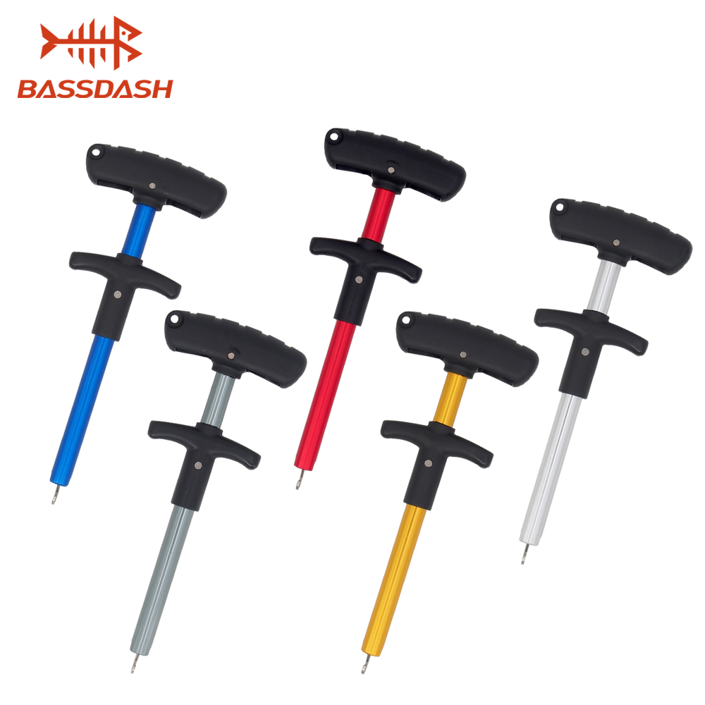 Portable Fishing Hook Remover 17.3cm/6.8in Aluminum Hook Disgorger 5 Colors Available