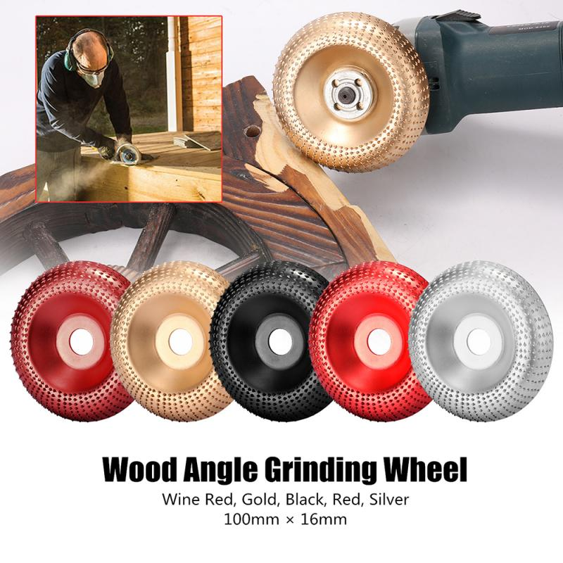 16mm Wood Angle Grinding Wheel DIY Woodworking Tools Carbon Steel Sanding Carving Shaping Disc Abrasive Tool For Angle Grinder