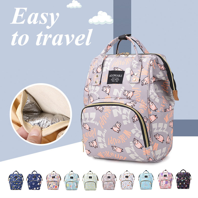 Diaper Bag Backpack Mom Outdoor Travel Backpack Printed Nursing Maternity Bag For Stroller Waterproof Nappy Bag Mummy Bags