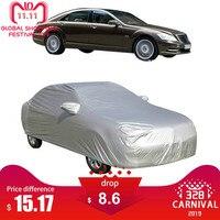 Universal m l xl capa de carro sol sombra neve gelo proteção dustproof impermeável ao ar livre capas protetoras|Capas de carro|   -