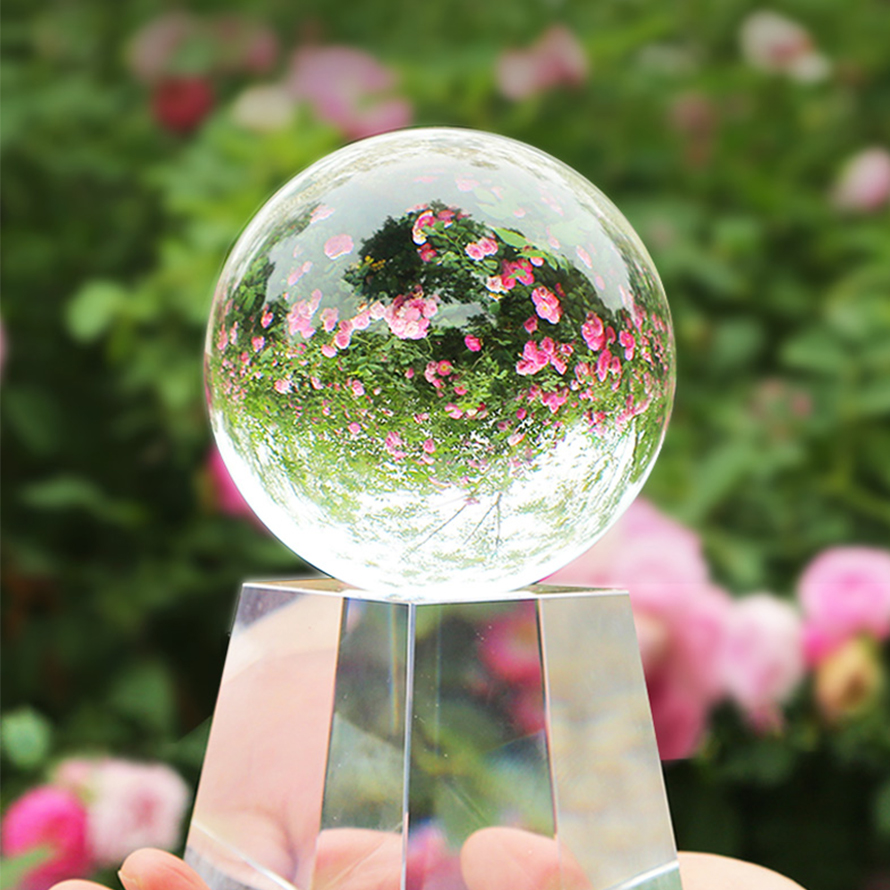 60-100mm Magic Photography Ball Crystal Sphere Feng Shui Glass Ball Crystal Crafts Decor Home Decorations Wedding Photography