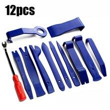Conjunto de ferramentas de reparo do carro plástico voiture dentro da prancha da porta alavanca ferramentas de remoção de porta automática 12 pçs kit de ferramentas de mão de desmontagem estéreo do carro