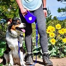 Многофункциональный выдвижной поводок для собак, складной держатель для бутылки с водой, сумка для закусок, контейнер для собак, принадлежности для обучения