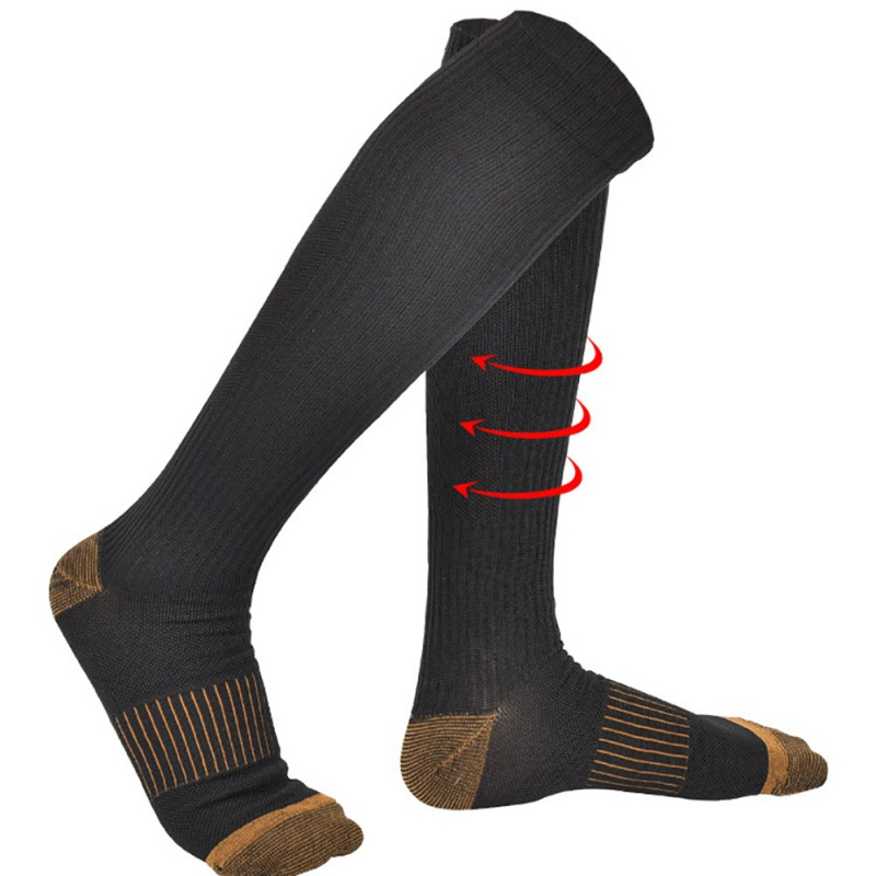 Unisex Stockings Compression Pressure Varicose Vein Stocking Knee High Support Stretch Pressure Circulation