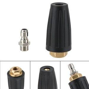 Image 4 - Limpeza do carro turbo bocais pulverizador para conector rápido lavadora de pressão do carro acessório rotativo pivotante acoplador jet pulverizador