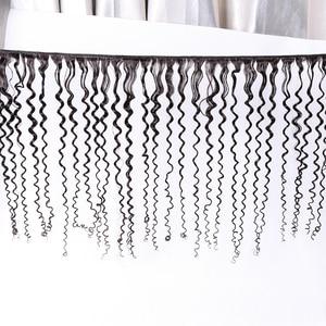 Image 5 - Gabrielle Brasilianische Verworrene Lockige Bundles 5 teile/paket 100% Menschliches Haar Extensions Doppel Tressen 8 28 zoll