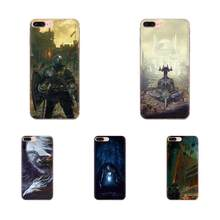 For Apple iPhone 11 Pro X XS Max XR 4 4S 5 5C 5S SE 6 6S 7 8 Plus Soft Silicone TPU Transparent Custom Phone Dark Souls(China)