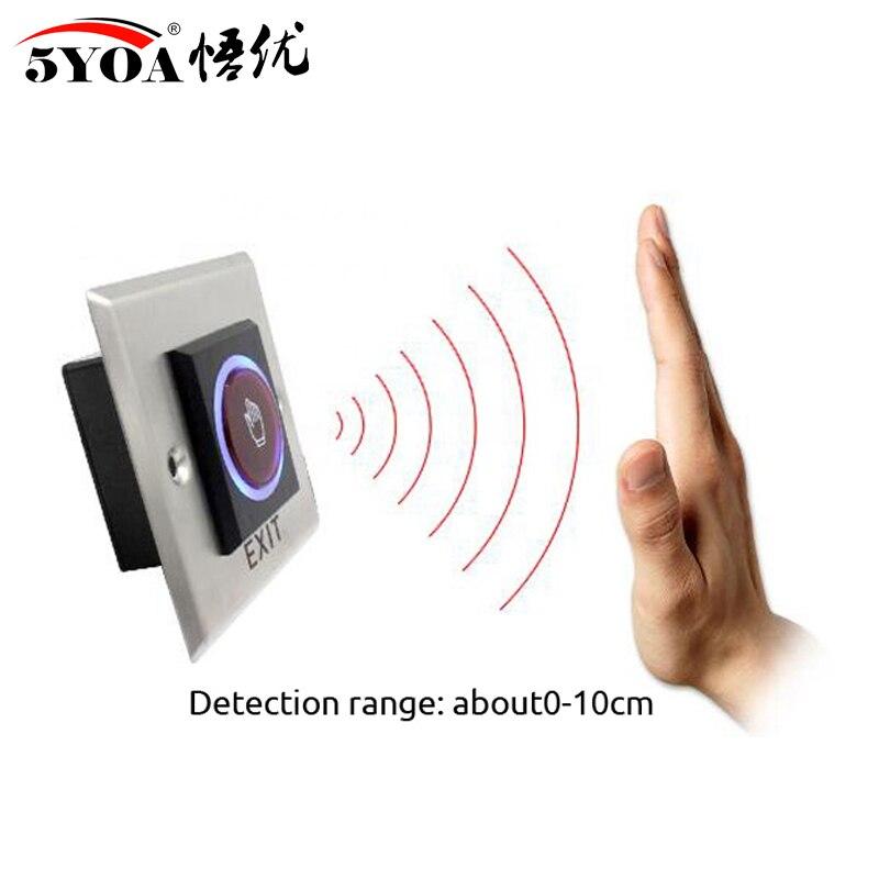 Nenhum toque botão de saída quadrado metal de aço inoxidável touchless interruptor de liberação da porta ir sem contato infravermelho