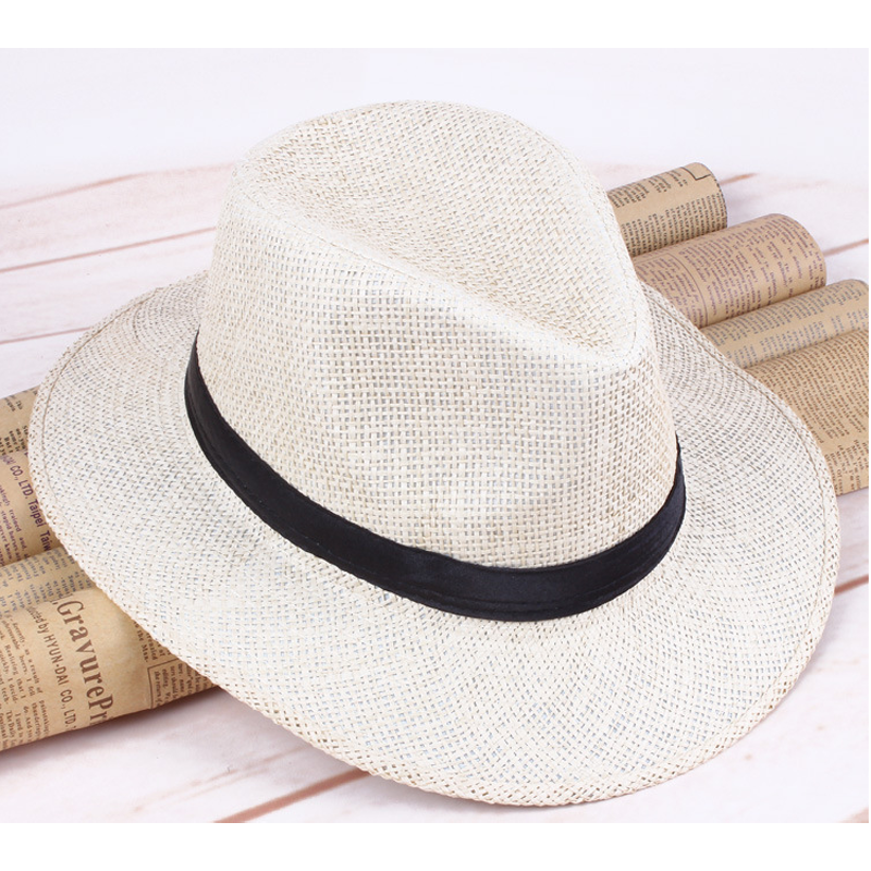 Panama Hat Summer Sun Hats For Women Man Beach Straw Hat For Men UV Protection Cap Chapeau Femme 2020