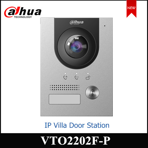 Dahua IP Villa Door Station 2MP CMOS Camera VTO2202F-P Night Vision Voice Indicator Compatible With VTH2421FB-P VTH5222CH-S1