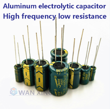 20Pcs high frequency electrolytic capacitor 16V 25V 35V 50V 63V 100V 200V 400V 20%22UF 100UF 220UF 330UF 470UF 680UF 1000UF