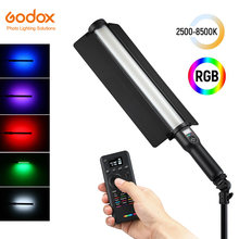 Godox LC500R 2500K-8500K Dua Warna Penuh Warna RGB LED Light Stick Efek Pencahayaan CRI 96 TLCI 98 dengan Remote Control & Barndoor(China)