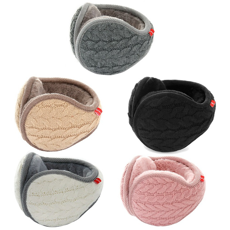 Winter Unisex Men And Women Fleece Warmer Earmuff Warm Plush Cloth Ear Muffs Cover Earwarmers Ear Muffs Earlap Warmer 5 Color