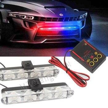 цена на MZORANGE Car-Styling 2x4 LED Strobe Warning Light Emergency Light  Flashing Firemen Lights Ambulance Police Light LED Day Light