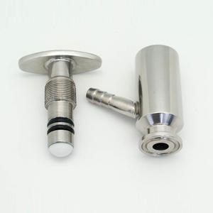 """Image 4 - QiiMii 1.5"""" Sanitary Ferrule Tri Clamp Type Food Medicine Elliptic Sampling Valve Stainless Steel SS304 Clamp Sample Valve"""