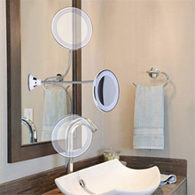 My Flexible Illuminated Mirror ,10x Mag Flexi with 360 Adjustable flexible make up mirror