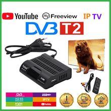 Receptor completo da tevê do receptor h265 tdt 265 da tevê do receptor DVB-T2 da tevê de dvb t2 hecv ajustado-caixa superior do decodificador do fta dvb-t youtube iptv m3u