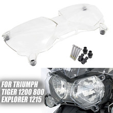 Para triumph tiger 800 xc xcx xca xr xrt xrx 2011-2018 nova motocicleta farol protetor de luz capa protetora guarda acrílico