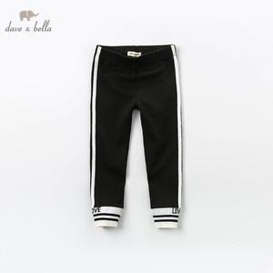 Image 1 - Dbk12243 dave bella primavera crianças meninas moda carta listrado calças crianças boutique casual tornozelo comprimento calças