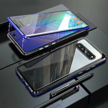Funda de teléfono magnética de adsorción magnética para Samsung Galaxy S8, S9,...