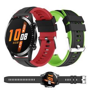 Спортивный ремешок для Huawei Watch GT 2 и GT, ремешок для умных часов Xiaomi Amazfit Stratos 3 / GTR 47 мм, силиконовый браслет, 22 мм