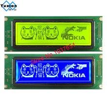 24064 240*64 lcd display groen blauw scherm grafische module UCI6963 of T6963 LCM24064 2 LM24064DBY gratis verzending 1 stuks