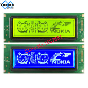Image 1 - 24064 240*64 lcd display panel green blue screen  graphic module UCI6963 or T6963  LCM24064 2 LM24064DBY  free shipping 1pcs