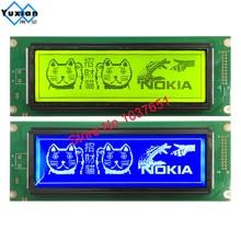 24064 240*64 شاشة الكريستال السائل لوحة الأخضر الأزرق وحدة الشاشة الرسومية UCI6963 أو T6963 LCM24064 2 LM24064DBY شحن مجاني 1 قطعة