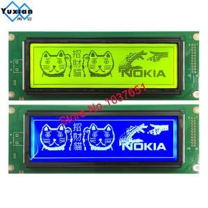 Image 1 - 24064 240*64 شاشة الكريستال السائل لوحة الأخضر الأزرق وحدة الشاشة الرسومية UCI6963 أو T6963 LCM24064 2 LM24064DBY شحن مجاني 1 قطعة