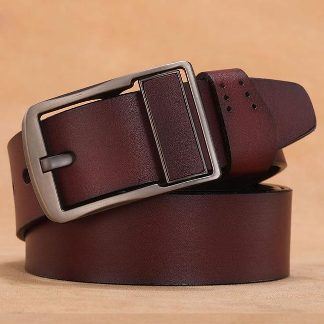 150 160 170cm Big Size Genuine Leather Belts Belt Plus Size Belt For Men Real Leather Pin Buckle Jeans Long Waist Strap Belt
