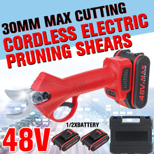Shear Cutter Pruner Bonsai Branches Electric Cordless 48V with 9000mah Lithium-Ion Efficient