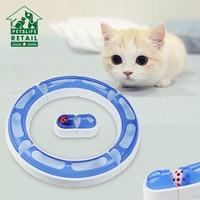 DIY игрушка для питомцев кошек трек мяч комбинированный тип Кот интеллект игрушки для кошек тренировка развлечение пластмассовый туннель
