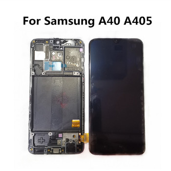 """Original 5.9"""" LCD For Samsung Galaxy A40 A405 LCD Display For A40 SM-A405 Super AMOLED Touch Digitizer For A40 A405F LCD Screen"""