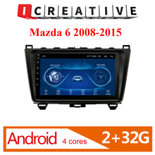 2 din Adroid Car Radio Stereo WIFI GPS Navigation Multimedia Player For Mazda 6 2008 2009 2010 2011 2012 2013 2014 2015