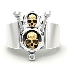 Металл рок череп властная мужские тёмные очки ретро кольцо подарок