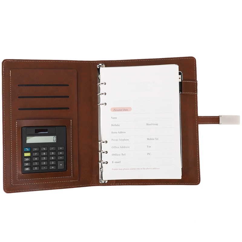 Qi Note Book Power Bank Notebook MultiFunctional 8000MAh Power Bank Binder Spiral Diary Book+USB Flash Disk
