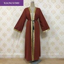 Muslim Diamonds Beading Cardigan Abaya Full Dress Kimono Long Robe Gowns Jubah Dubai Middle East Ramadan Arab Islamic Clothing