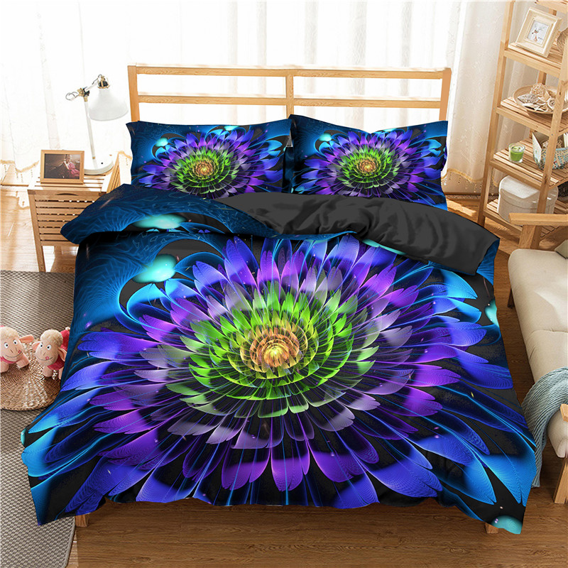 3D Printed Beautiful Flowers Cover Set Bedding Set 2/3 Adult Plant Duvet Cover Comfort/Quilt Pillowcase Bed Set