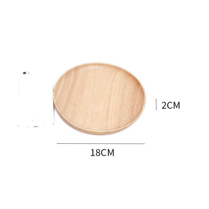 Wooden Round Storage Tray Plate Tea Food Dishe Drink Platter Food Plate Dinner Beef Steak Fruit Snack Tray Home Kitchen Decor - Цвет: 4