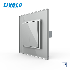 Image 3 - Livolo Manufacturer EU standard Luxury 4 colors crystal glass panel,1way Push Reset switch,restore switches,no logo