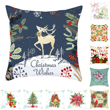 Fuwatacchi New Year Holiday Cushion Covers Merry Christmas Pillow Cover Decorative Sofa Cushions Home Decorfunda 45*45cm