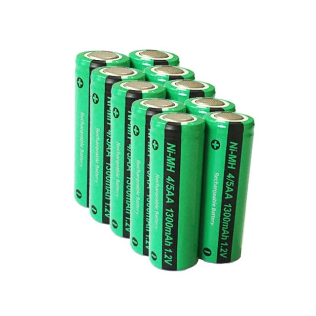 10 قطعة/الوحدة PKCELL جديد 1.2 فولت 4/5AA 1300 مللي أمبير ni mh 4/5 AA NiMh بطارية قابلة للشحن شقة العلوي الصناعية بطاريات