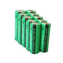 10 יח\חבילה PKCELL החדש 1.2V 4/5AA 1300mAh Ni Mh 4/5 AA NiMh נטענת סוללה שטוח למעלה תעשייתי סוללות